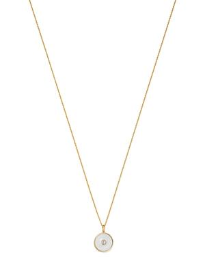 Zoe Lev 14K Yellow Gold Diamond Disc Pendant Necklace, 18