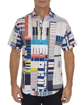 Robert Graham - Tofo Short-Sleeve Abstract-Print Classic Fit Shirt