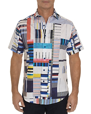 Robert Graham T-shirts TOFO SHORT-SLEEVE ABSTRACT-PRINT CLASSIC FIT SHIRT