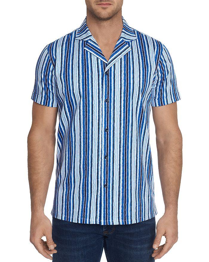 Robert Graham - Hans Short-Sleeve Striped Slim Fit Shirt - 100% Exclusive