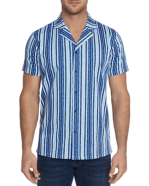 Robert Graham Hans Short-Sleeve Striped Slim Fit Shirt - 100% Exclusive