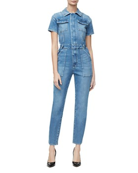 Good American - Denim Military Jumpsuit