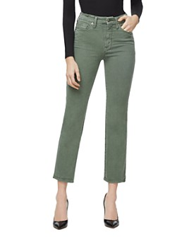 Good American - Good Curve Straight Jeans in Olive007