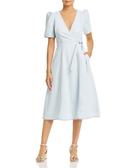 kate spade new york - Denim Faux-Wrap Dress