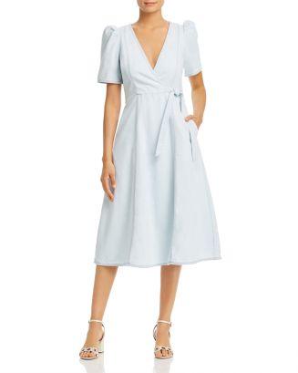 Denim Faux Wrap Dress by Kate Spade New York