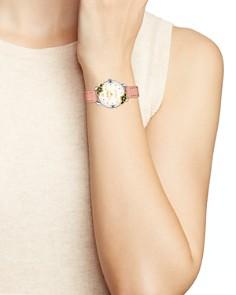 COACH - Delancey Floral-Bezel Watch, 28mm