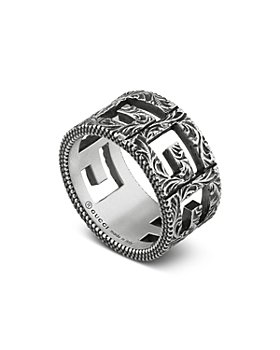 Gucci - Sterling Silver G Cube Square G Ring