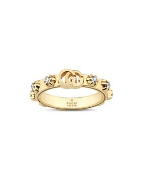 Gucci - 18K Yellow Gold Running G Diamond Ring