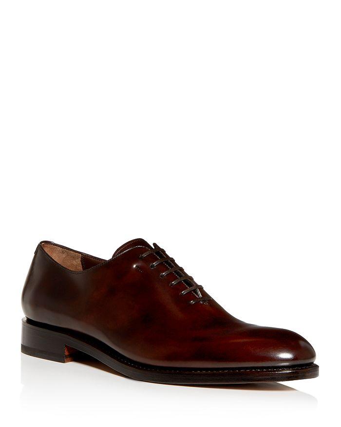 Salvatore Ferragamo - Men's Angiolo Leather Plain-Toe Oxfords