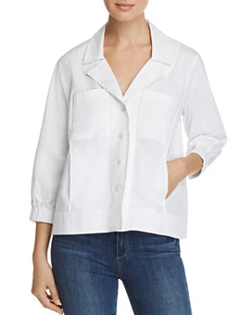 Donna Karan - Cropped Button-Front Jacket