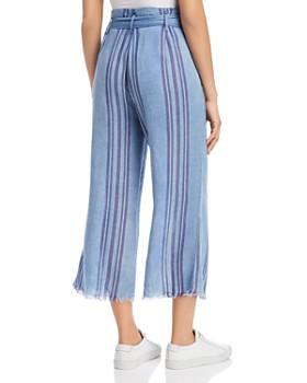 Billy T - Stripe-Print Cropped Wide-Leg Pants