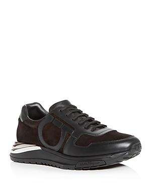 Salvatore Ferragamo Men's Brooklyn Willy Suede Low-Top Sneakers
