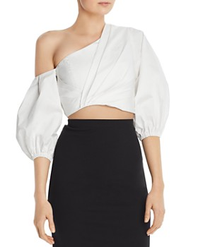 Amur - Ale One-Shoulder Crop Top