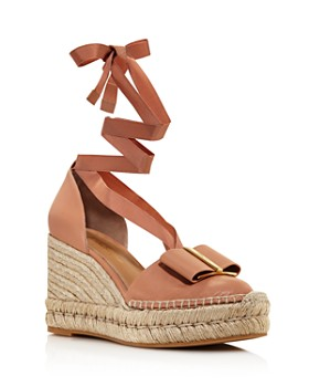 Salvatore Ferragamo - Women's Geraniolos Espadrille Tie-Up Sandals