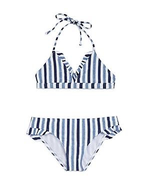 Splendid Girls\\\' Striped 2-Piece Swimsuit - Big Kid-Kids