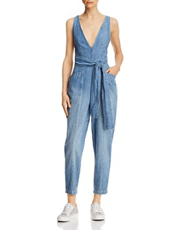 Rebecca Taylor - Draped Denim Jumpsuit