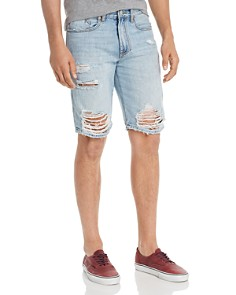BLANKNYC - Destroyed Regular Fit Denim Shorts in Happy Place