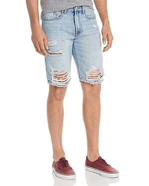 Blanknyc Destroyed Regular Fit Denim Shorts in Happy Place-Men