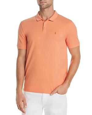 John Varvatos Peace Sign Pique Regular Fit Polo Shirt - 100% Exclusive In Papaya