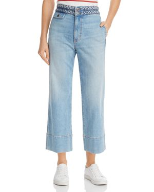Current/Elliott The Braided Camp Wide-Leg Jeans in Poolside
