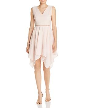 346bc531c9 AQUA - Eyelet Handkerchief-Hem Dress - 100% Exclusive ...
