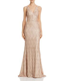 AQUA - Sequined Mermaid Gown - 100% Exclusive