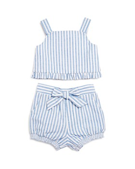 Habitual Kids - Girls' Luciana Striped Tank & Bubble Shorts Set - Baby