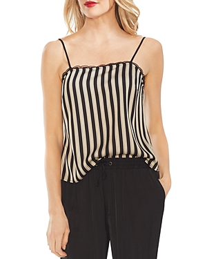 Vince Camuto Lace-Trim Striped Cami