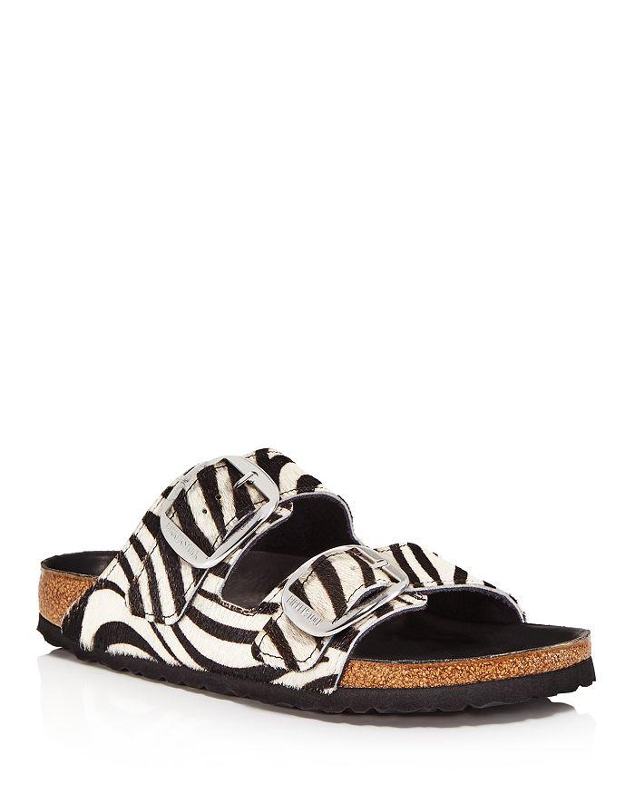 Birkenstock - Women's Arizona Big Buckle Zebra Calf Hair Slide Sandals - 100% Exclusive