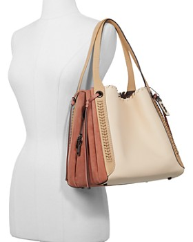 COACH - Coach 1941 Whipstitch Color-Block Mixed Leather Harmony Hobo