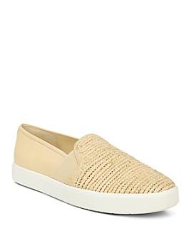 Vince - Women's Blair Woven Front Slip-On Sneakers