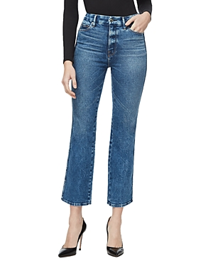 Good American Good Curve Straight Jeans in Blue286-Women