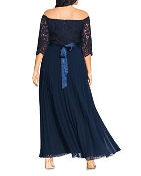 2ec09a28a97 ... City Chic Plus - Off-the-Shoulder Lace-Bodice Gown