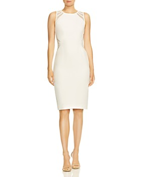 4b5bd6961d3e HALSTON HERITAGE - Lace-Inset Dress ...
