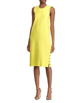 Ralph Lauren - Buttoned-Side-Slit Shift Dress