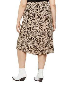Sanctuary Curve - Cheetah-Print Midi Slip Skirt