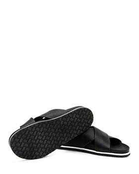 46dcf20f0 ... Aquatalia - Men s Tanner Pebbled Leather Slide Sandals