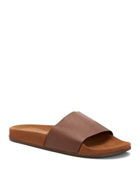 8e583ffbcfa3 Aquatalia - Men s Percy Pebbled Leather Slide Sandals ...