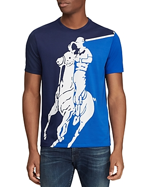 1a1e3dd5 Men's Active Fit Big Pony Graphic T-Shirt in Sapphire Star Multi