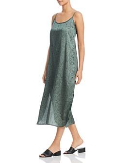 Eileen Fisher - Printed Maxi Slip Dress