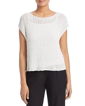Eileen Fisher Petites - Cap-Sleeve Sweater