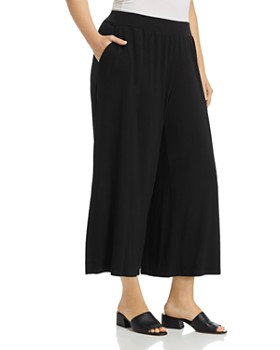 Eileen Fisher Plus - Cropped Wide-Leg Pants