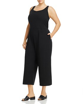 Eileen Fisher Plus - Sleeveless Cropped Jumpsuit