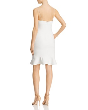 LIKELY - Banks Flounced-Hem Slip Dress