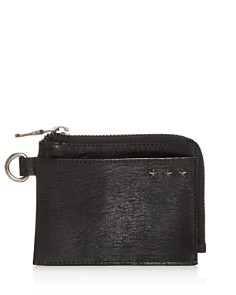 John Varvatos Star USA - Cooper Leather Zip Card Case