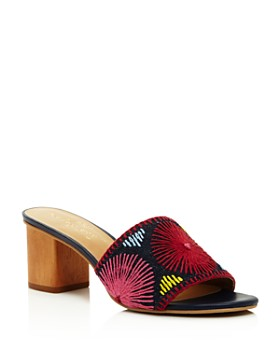 Jack Rogers - Women's Bettina Leather Block-Heel Sandals