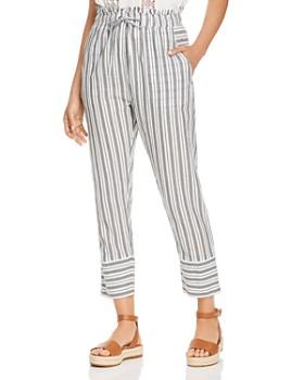 Scotch & Soda - Striped Cotton Cropped Pants