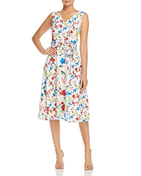 Calvin Klein - Sleeveless Floral-Print Dress