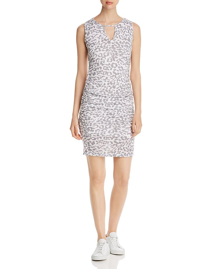 Red Haute - Sleeveless Leopard-Print Dress
