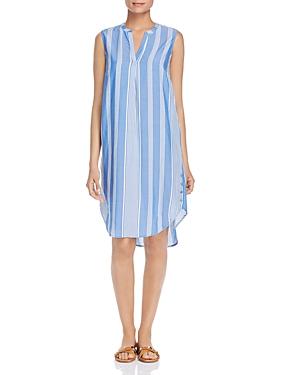 Single Thread Sleeveless Striped Shift Dress